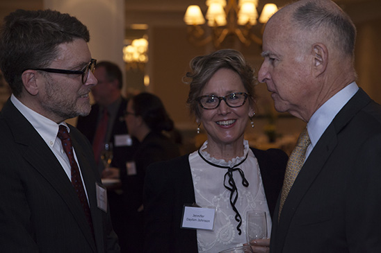 Dr. and Mrs. Jeffrey Dayton-Johnson and Governor Brown